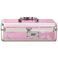 Lockable Vibrator Case Small Pink