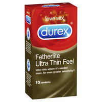 Durex Fetherlite Ultra Thin Feel Ultra Thin Condoms x10