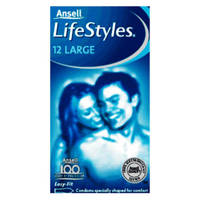 Ansell Lifestyles Large Condoms x12
