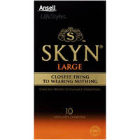 Ansell SKYN Non Latex Large Condoms x10