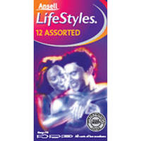 Ansell Lifestyles Assorted Condoms x12