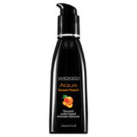 Wicked Aqua Sweet Peach Sweet Peach Flavoured Water Based Lubricant - 120 ml (4 oz) Bottle