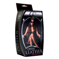 Onyx Leather Masquerade Mask