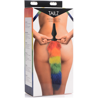 Rainbow Tail Silicone Butt Plug Mixed