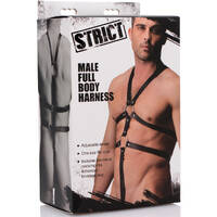 Male Full Body Harness Black