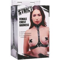 Female Chest Harness Black