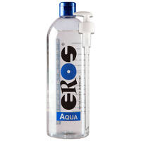 EROS AQUA Water Based Lubricant Bottle with Pump 1000 ml