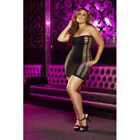 Naughty Girl Mini Dress LC-16 Black Plus