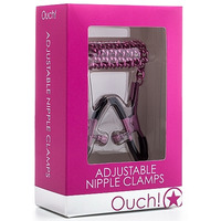Ouch! Adjustable Nipple Clamps Pink