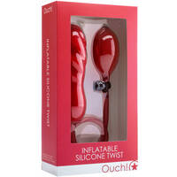 Ouch! Inflatable Silicone Twist Red