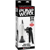 Pump Worx Thick Dick Power Pump Black/Clear Penis Pump