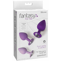 Fantasy For Her Little Gems Trainer Set Purple Butt Plugs with Jewel Bases - Set of 3 Sizes
