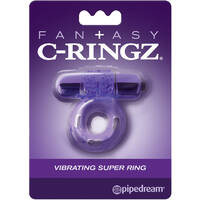 Fantasy C-Ringz Vibrating Super Ring Purple Vibrating Cock Ring
