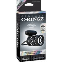Fantasy C-Ringz Thick Dick Silicone Vibrating Cage