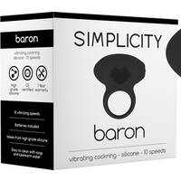 BARON Vibrating Cockring (Black)