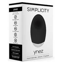 Ynez Hand hold vibe Silicone 10 Speed Black