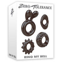 Zero Tolerance Ring My Bell Black Cock Rings - Set of 4