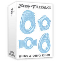 Zero Tolerance Ring A Ding Ding Clear Cock Rings - Set of 4