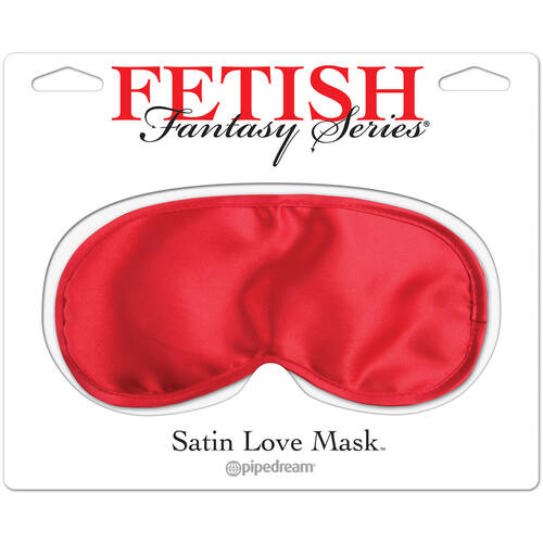 Satin Love Mask Red