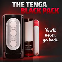 The TENGA Black Pack. You'll Never Go Back.